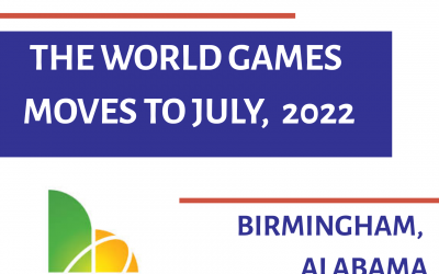 The World Games moves to July, 2022