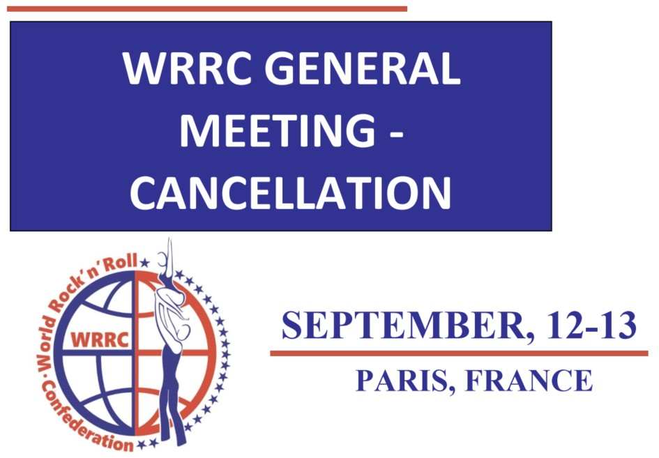 Cancellation of the live General Meeting in Paris (12-13.09.2020)