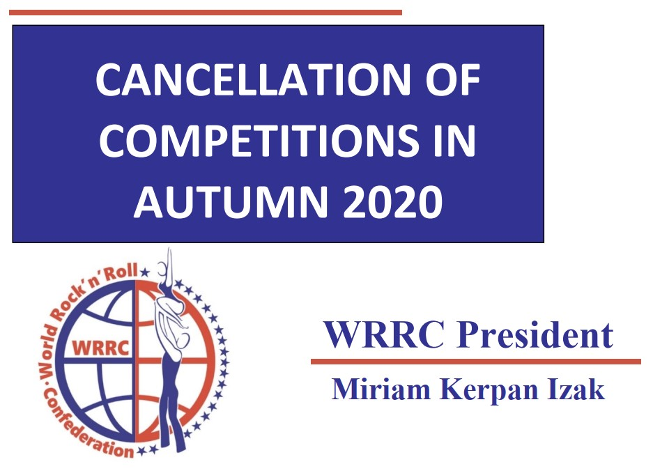 Cancellation of the Remaining Competitions in 2020: Word from the WRRC President